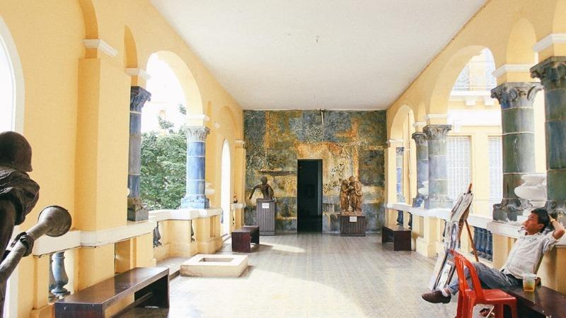 Bảo tàng Mỹ thuật TP HCM được nhiều người check in sống ảo.