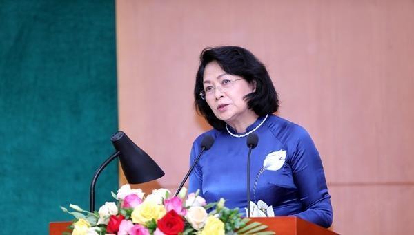 Phó Chủ tịch nước Đặng Thị Ngọc Thịnh phát biểu tại Đại hội.