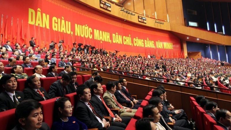 Các đại biểu dự Đại hội XII vào tháng 1/2016.