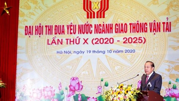 Phó Thủ tướng Thường trực Chính phủ Trương Hòa Bình phát biểu chỉ đạo Đại hội.