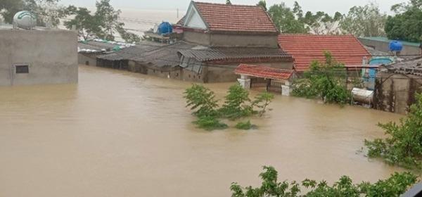 Mưa lũ lịch sử xảy ra tại huyện Lệ Thủy, tỉnh Quảng Bình.