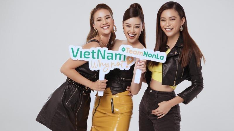 Hoa hậu Khánh Vân, Á hậu Mâu Thủy và người đẹp Hương Ly tham gia chương trình.