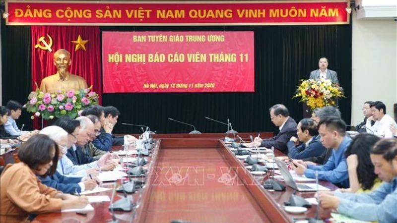 Quang cảnh Hội nghị tại điểm cầu Ban Tuyên giáo Trung ương.