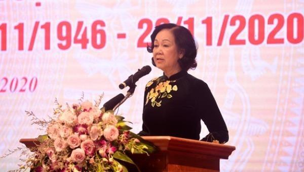 Trưởng Ban Dân vận TƯ Trương Thị Mai phát biểu chỉ đạo Đại hội.