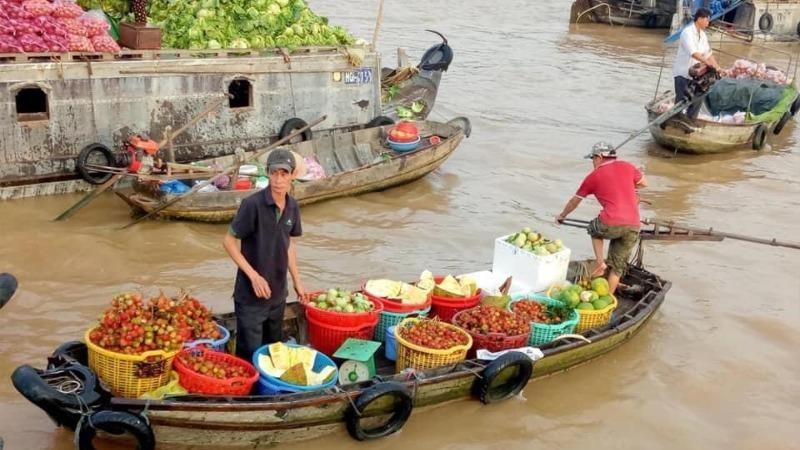 Chú trọng phát triển nông nghiệp liên kết với các ngành thương mại dịch vụ tại Chợ nổi Cái Răng (Cần Thơ).