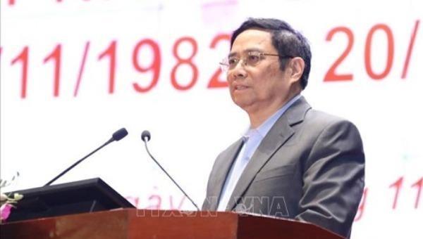 Trưởng Ban Tổ chức Trung ương Phạm Minh Chính phát biểu tại buổi lễ - Ảnh: TTXVN.