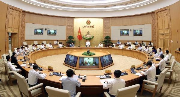 Thủ tướng chủ trì phiên họp Chính phủ chuyên đề xây dựng pháp luật diễn ra vào tháng 8/2020.