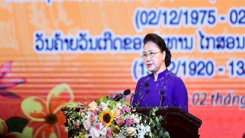 Chủ tịch Quốc hội Nguyễn Thị Kim Ngân phát biểu tại Lễ kỷ niệm.