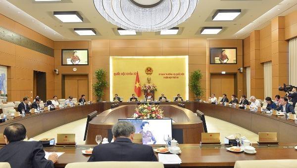 Phiên họp thứ 50 của Uỷ ban Thường vụ Quốc hội.