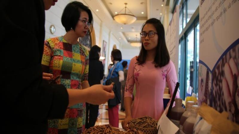 Sản phẩm viên nén mùn cưa của chị Thanh Phương nhận được nhiều sự quan tâm tại cuộc thi Phụ nữ khởi nghiệp lần thứ 3 do Hội LHPN Việt Nam tổ chức năm 2020.