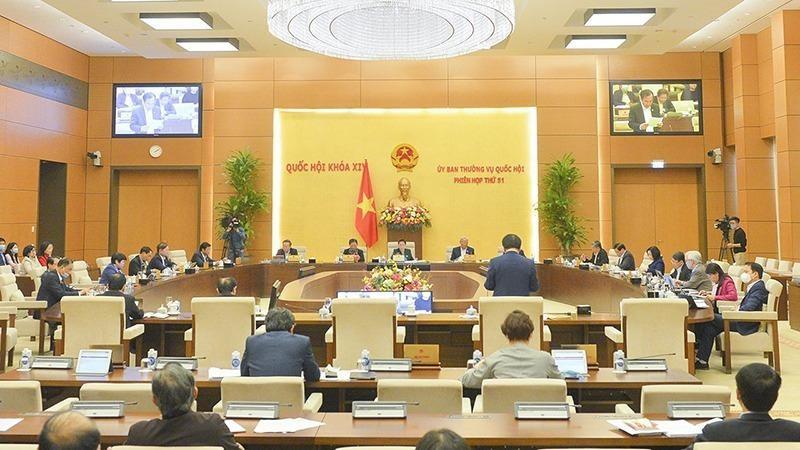 Quang cảnh phiên họp thứ 51 của Ủy ban Thường vụ Quốc hội.