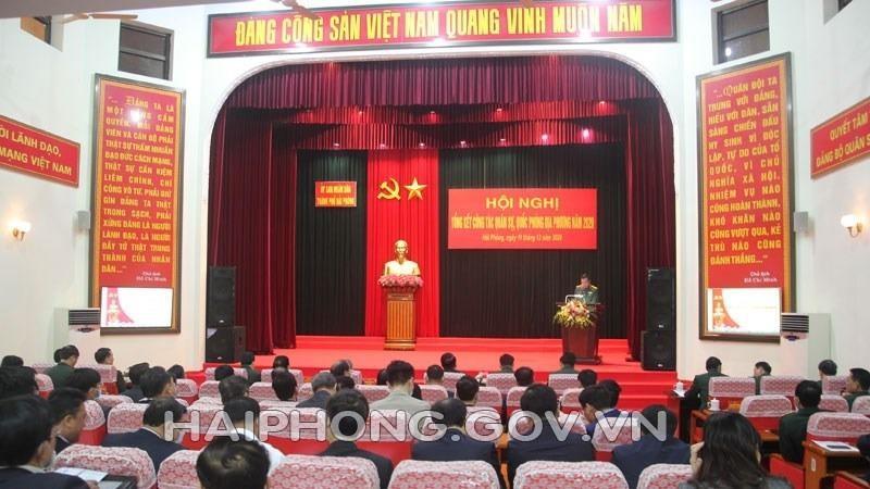 Quang cảnh hội nghị. Ảnh Haiphong.gov.vn.