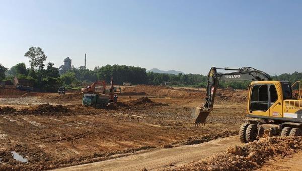 Công trình xây dựng tại Khu xử lý chất thải Sóc Sơn.