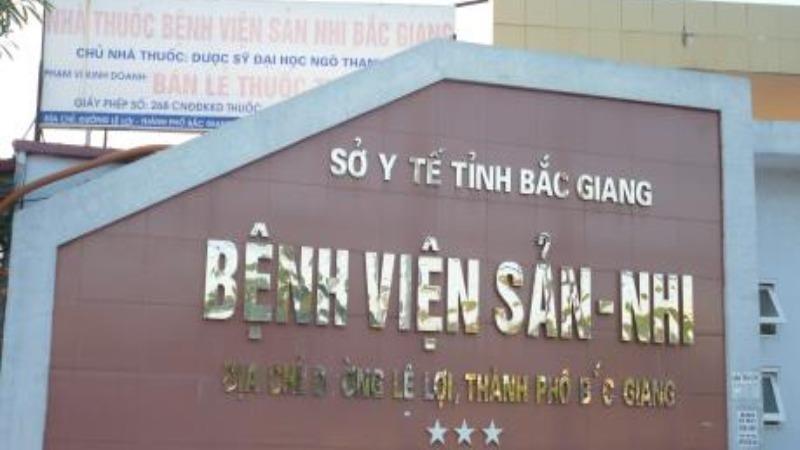 Bệnh viện Sản nhi Bắc Giang.