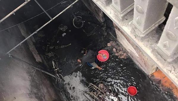 Hiện trường vụ cháy, nổ khiến 2 người tử vong.
