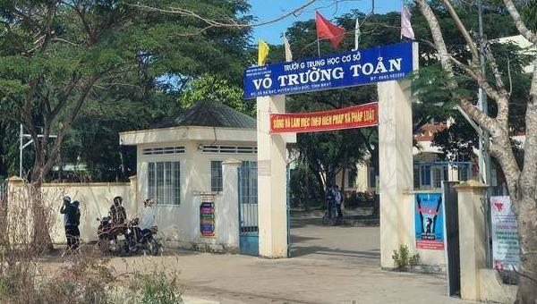 Ngôi trường nữ sinh đang theo học. Ảnh Thanh Niên.