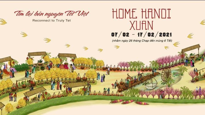 Hà Nội sắp xuất hiện đường hoa Home Hanoi Xuan 2021