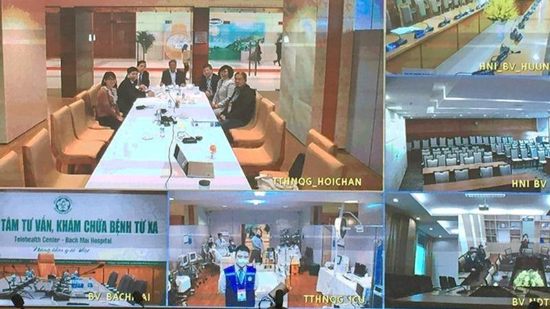 Điều hành trực tuyến chăm sóc sức khỏe cán bộ dự Đại hội Đảng