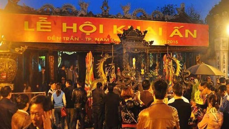 Không tổ chức lễ hội khai ấn đền Trần năm 2021