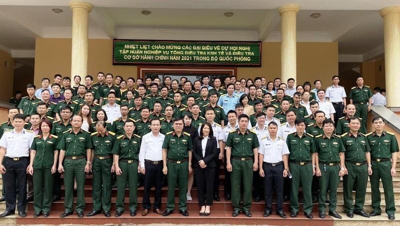 Các học viên tham dự lớp tập huấn nghiệp vụ tổng ĐTKT và CSHC 2021.
