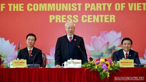 Tổng Bí thư, Chủ tịch nước Nguyễn Phú Trọng chủ trì họp báo về kết quả Đại hội XIII.