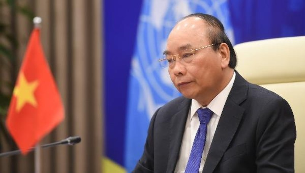 Thủ tướng Nguyễn Xuân Phúc tham dự và phát biểu tại phiên Thảo luận mở Cấp cao trực tuyến của HĐBA LHQ.