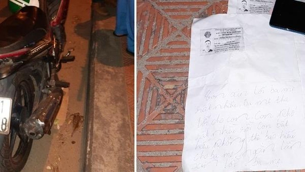 Nam thanh niên mất tích để lại thư 'ngàn lần xin lỗi ba mẹ'
