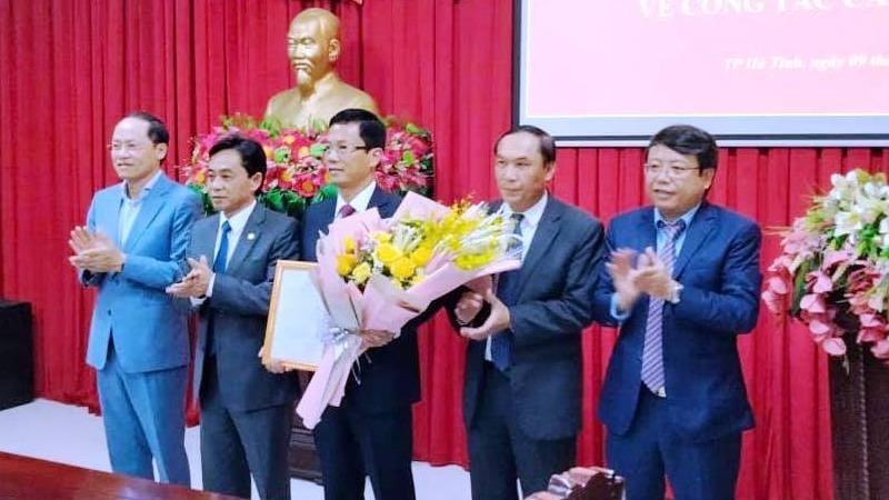 Ông Nguyễn Trọng Hiếu giữ chức Phó Bí thư Thành ủy Hà Tĩnh