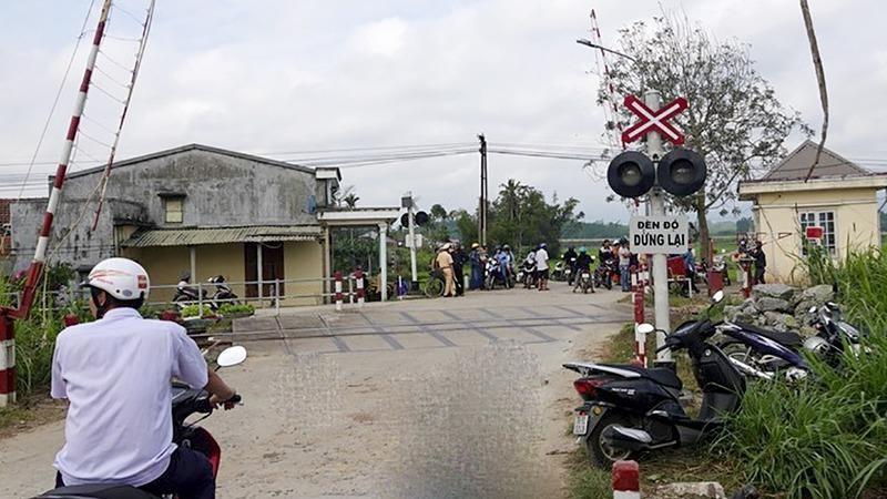 Khu vực gác chắn nơi xảy ra tai nạn.