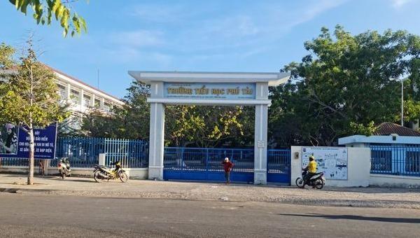 Trường tiểu học Phú Tài nơi xảy ra sự việc.