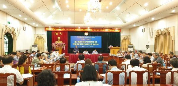 Một hội thảo về vai trò của Mặt trận Tổ quốc trong triển khai pháp luật.
