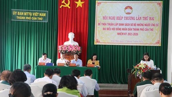 Hội nghị hiệp thương lần thứ hai của TP Cần Thơ. Ảnh: Ngọc Thiện/TTXVN.