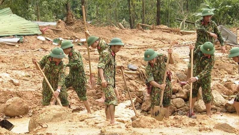 Quân đội tích cực ứng phó sự cố thiên tai, tìm kiếm cứu nạn