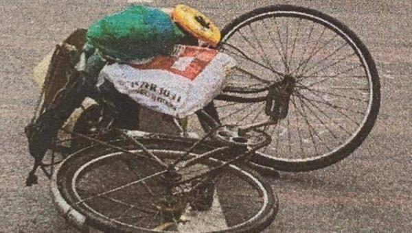 Hiện trường vụ tài xế dương tính ma túy tông xe đạp.