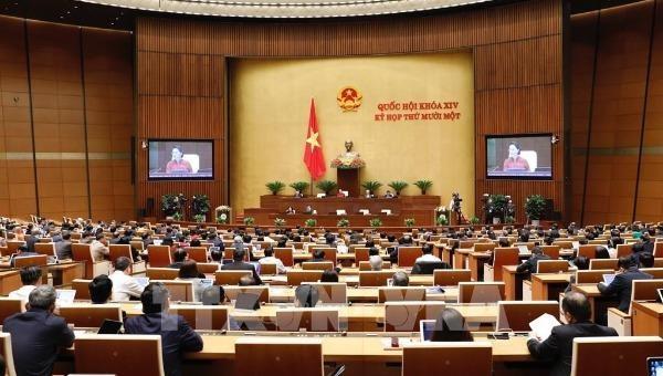 Quang cảnh phiên họp Quốc hội.