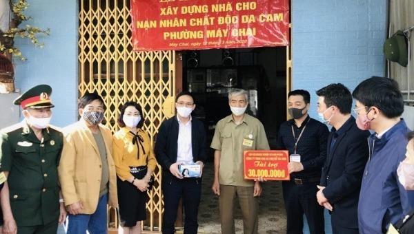 Khởi công xây dựng nhà ở cho gia đình nạn nhân chất độc da cam tại phường Máy Chai, quận Ngô Quyền, TP Hải Phòng.