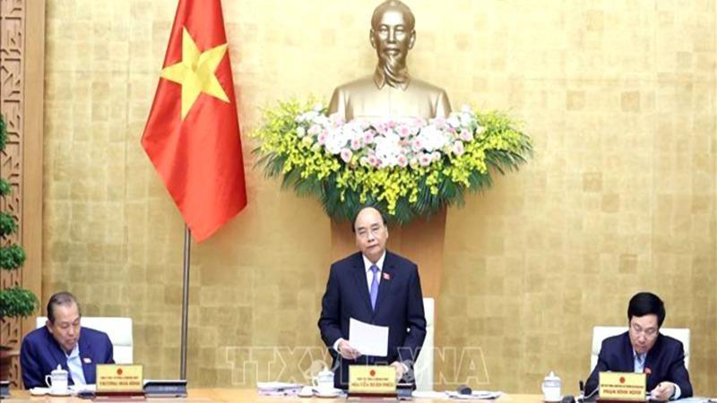 Thủ tướng Nguyễn Xuân Phúc chủ trì phiên họp Chính phủ thường kỳ tháng 3 năm 2021.