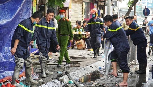 Hiện trường vụ cháy ở Hà Nội khiến 4 người tử vong.