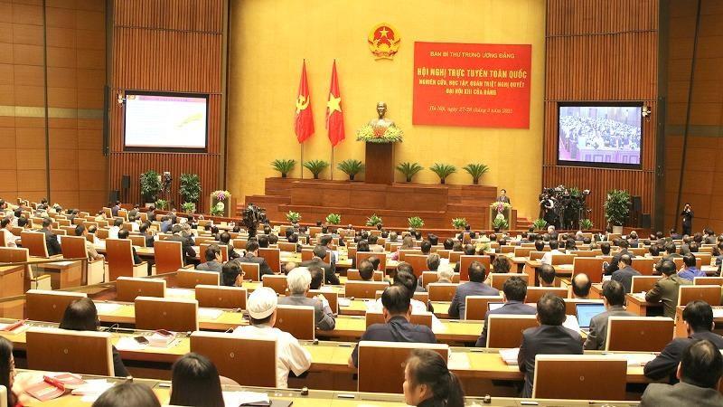 Hội nghị trực tuyến toàn quốc nghiên cứu, học tập, quán triệt, tuyên truyền Nghị quyết Đại hội XIII của Đảng.