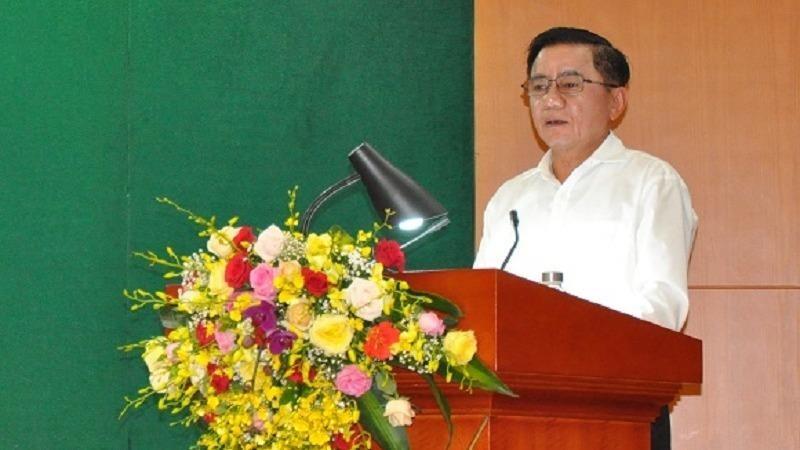 Ông Trần Cẩm Tú, Ủy viên Bộ Chính trị, Chủ nhiệm Ủy ban kiểm tra  Trung ương phát biểu chỉ đạo Hội nghị.