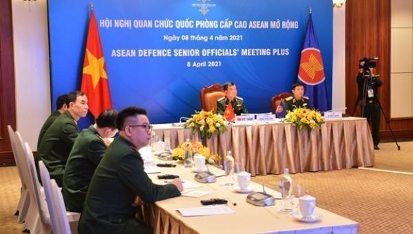Đoàn Việt Nam tham dự hội nghị tại điểm cầu Hà Nội.