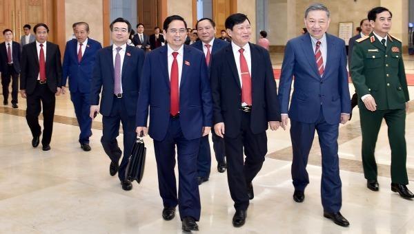 Thủ tướng Phạm Minh Chính cùng một số thành viên Chính phủ.