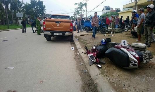 Hiện trường vụ tai nạn khiến 6 người bị thương