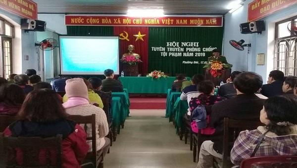 Tuyên truyền phòng chống tội phạm cho người dân dịp tết Nguyên Đán