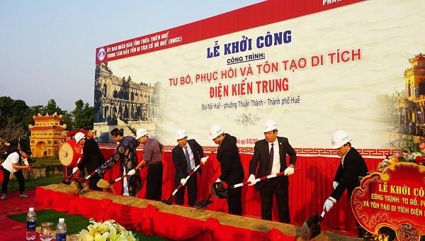 Trùng tu nơi sống và sinh hoạt của các vị vua triều Nguyễn