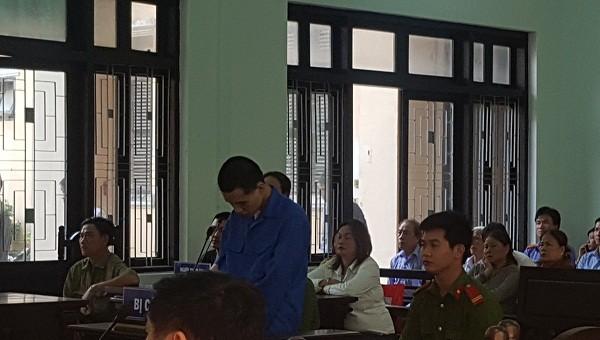 Bị cáo Lê Viết Thịnh tại phiên tòa