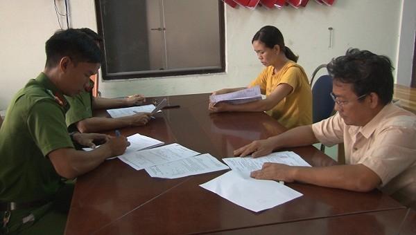 Hai bị can Nguyễn Công Dũng và Trần Thị Hồng Tứ khai nhận tại cơ quan điều tra