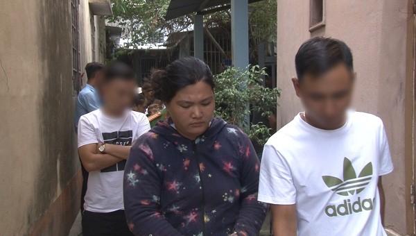 Đinh Thị Công Linh tại thời điểm bị bắt