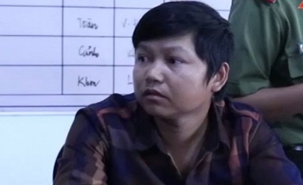 Đối tượng Nguyễn Khắc Trọng tại cơ quan Công an (ảnh ANTV)