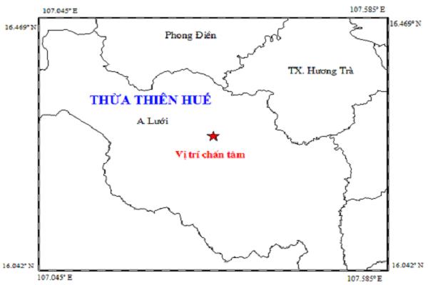 Cường độ của trận động đất được xác định là 3,3 độ richter